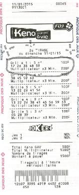 ticket gagnant weena