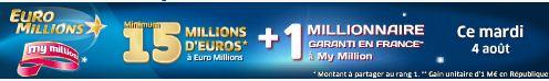 jackpot euromillions mardi 4 aout