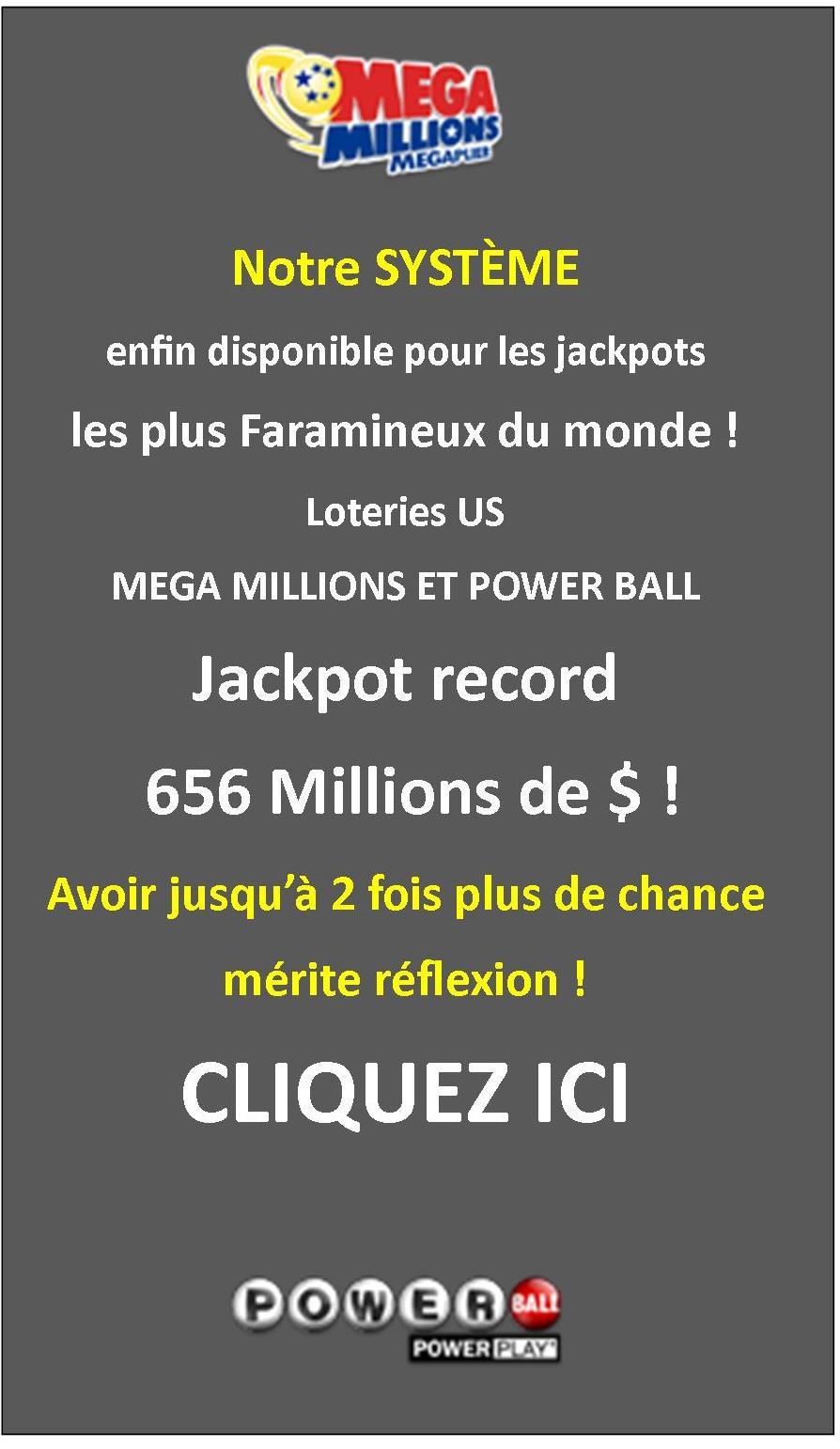 Système pour gagner au Powerball et Mega millions USA