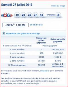 resultat-tirage-samedi-27-juillet-numéro-gagnant-rapport