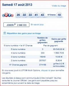 resultat-tirage-loto-samedi-17-aout-numéro-gagnant-rapport-gagner-loto