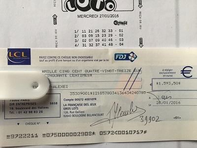 cheque loto