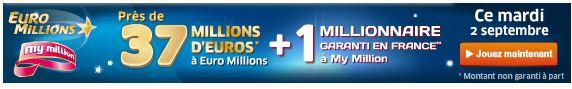 jackpot euromillions mardi 2 septembre