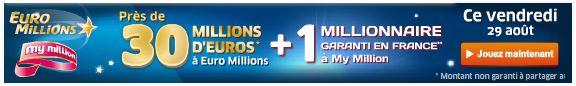 jackpot euromillions vendredi 29 aout