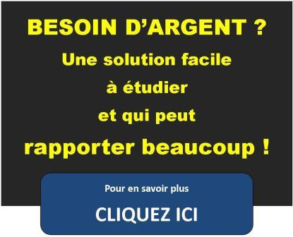 BESOIN ARGENT ? UNE SOLUTION