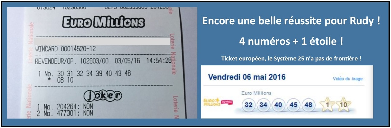 ticket gagnant