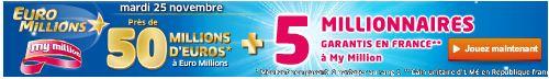 jackpot euromillions mardi 25 novembre SYSTEME pour gagner au LOTO et à EUROMILLIONS (Lotto Belge, Swiss, Québec etc)