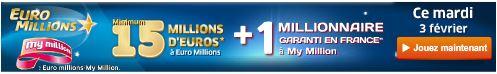jackpot euromillions mardi 3 fevrier