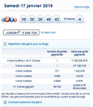 dernier tirage euro millions