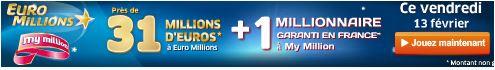 jackpot euromillions vendredi 13 fevrier