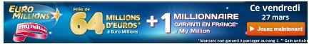 jackpot euromillions vendredi 27 mars