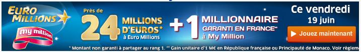 jackpot euromillions du vendredi 19 juin