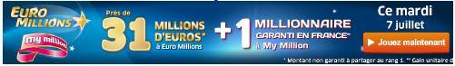 jackpot 31 millions euromillions du mardi 7 juillet