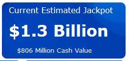 1,3 milliard de dollars