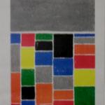 Forme géométrique liée aux nombres. Pierre Marie Dutel, pastel gras 1983