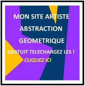 Tableau abstrait géométrique